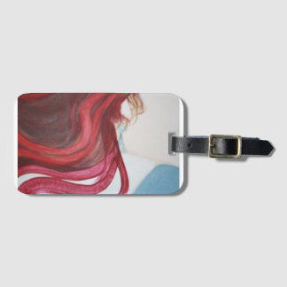 Luggage tag, woman, hair, business, card, slot luggage tag