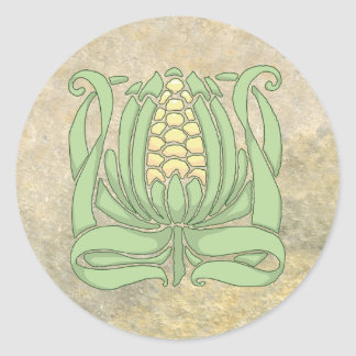 Lughnasadh Sweet Corn Classic Round Sticker