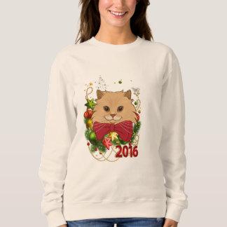 Luigi The Lion Cat's Christmas Ugly Sweatshirt
