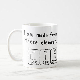 Luis periodic table name mug