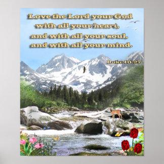 Luke 10:27 poster