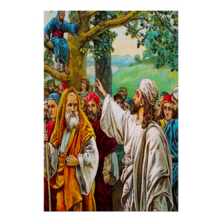 Luke 19:1-10 Jesus Saves a Tax Collector Poster