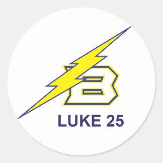 LUKE 25 CLASSIC ROUND STICKER