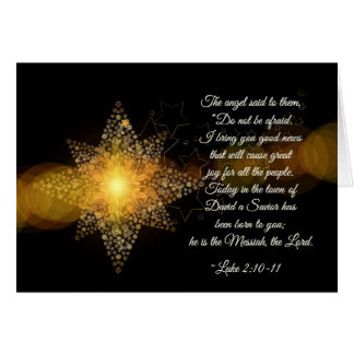Luke 2 10-11 A Savior has been born, Christmas Card