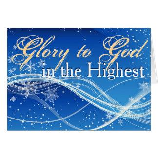 "Luke 2:14 ""Glory to God in the Highest"" Christmas Card"