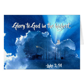 "Luke 2:14 ""Glory to God in the Highest"" Christmas Card"