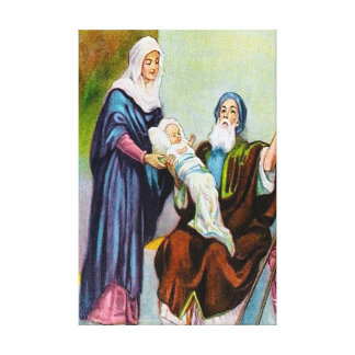 Luke 2:25-35 Simeon Sees God's Salvation canvas Stretched Canvas Print