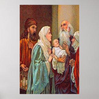 Luke 2:36-38 Anna Gives Thanks poster