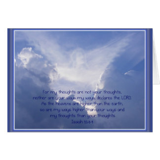 Luke 4:10, Angels watch over You, Encouragement Card