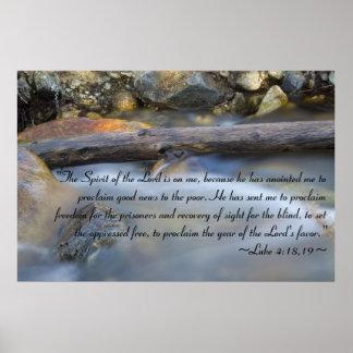Luke 4:18-19 Poster