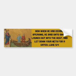 Luke 5:4 bumper stickers