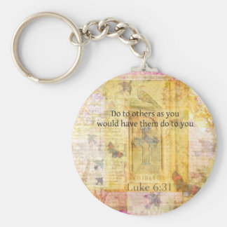Luke 6:31  Do to others BIBLE VERSE Basic Round Button Key Ring