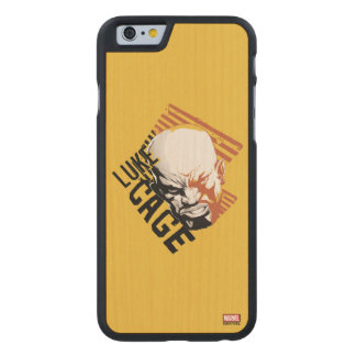 Luke Cage Badge Carved Maple iPhone 6 Case