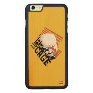 Luke Cage Badge Carved Maple iPhone 6 Plus Case