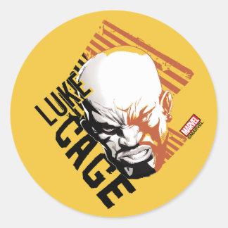 Luke Cage Badge Classic Round Sticker