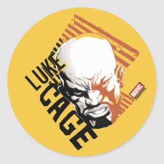 Luke Cage Badge Round Sticker