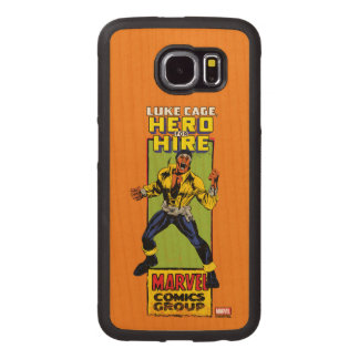 Luke Cage Comic Graphic Wood Phone Case