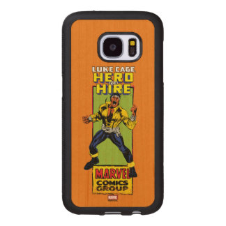 Luke Cage Comic Graphic Wood Samsung Galaxy S7 Case