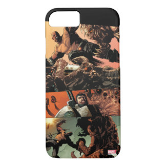 Luke Cage Fighting Aliens iPhone 8/7 Case