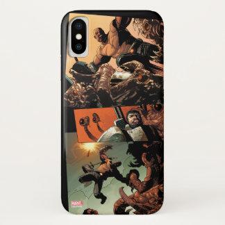 Luke Cage Fighting Aliens iPhone X Case