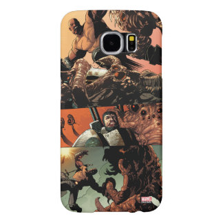 Luke Cage Fighting Aliens Samsung Galaxy S6 Cases