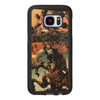 Luke Cage Fighting Aliens Wood Samsung Galaxy S7 Case
