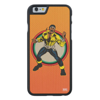 Luke Cage Retro Character Art Carved Maple iPhone 6 Case