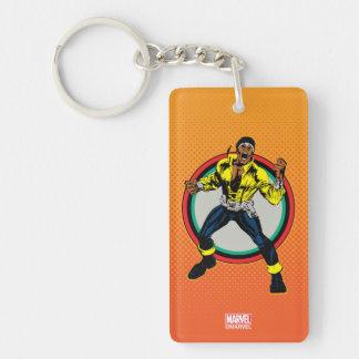 Luke Cage Retro Character Art Key Ring