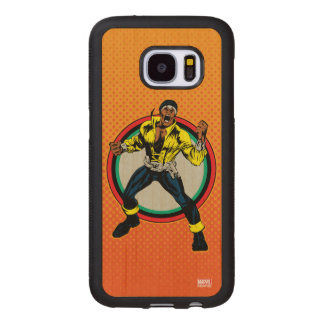 Luke Cage Retro Character Art Wood Samsung Galaxy S7 Case