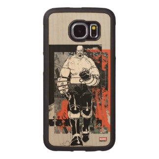 Luke Cage Sketch Wood Phone Case