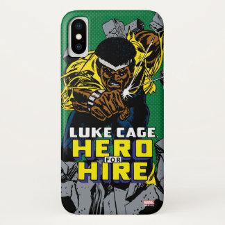 Luke Cage Smashing Through Bricks iPhone X Case