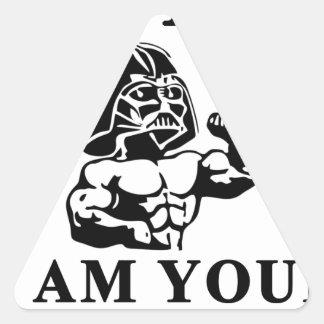 luke i am your STOPPER Triangle Sticker