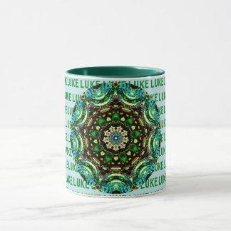 LUKE ~ Personalised Paua Shell Mug ~