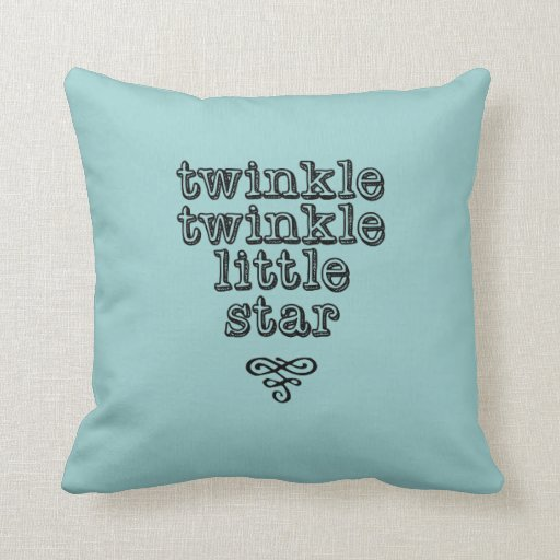 "Lullaby pillow ""twinkle twinkle little star"" green"