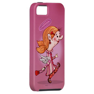 LULU ANGEL CARTOON iPhone SE + iPhone 5/5S TOUGH iPhone 5 Covers