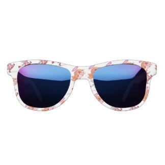 LULU ANGEL CARTOON Midnight Mirror Sunglasses Whit