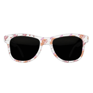 LULU ANGEL CARTOON Premium Smoke White Sunglasses