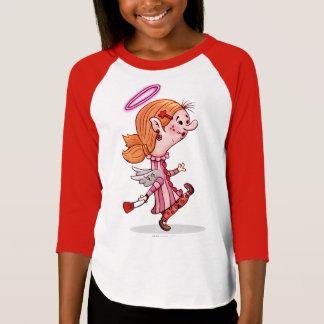 LULU ANGEL  Girls' American Apparel 3/4 Sleeve Rag T-Shirt