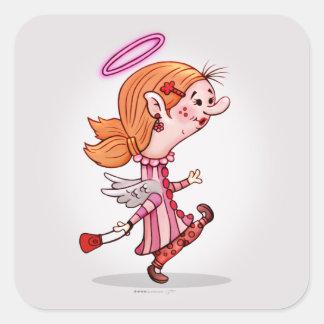 LULU ANGEL GLOSS Small, 1½ inch (sheet of 20) Square Sticker