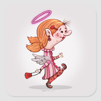 LULU ANGEL Square Stickers Large, 3 inch MATTE