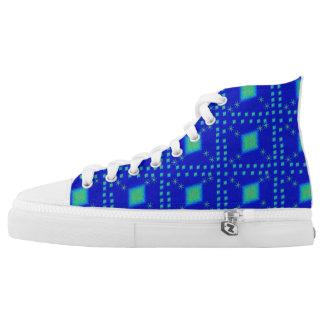 Lulu blue printed shoes