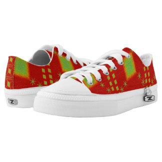 Lulu red printed shoes