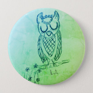 Lulu the Owl 10 Cm Round Badge