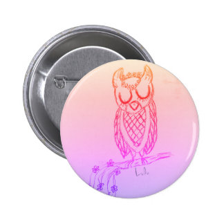 Lulu the Owl 6 Cm Round Badge