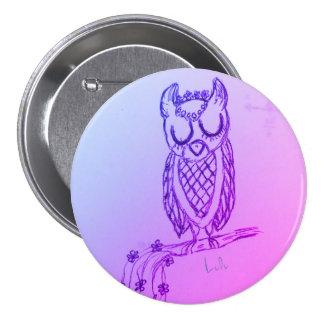 Lulu the Owl 7.5 Cm Round Badge