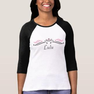Lulu Tiara Scroll T-Shirt by 369MyName