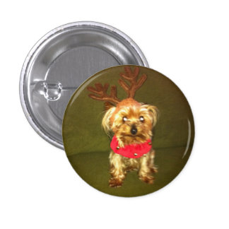 lulu's first christmas 3 cm round badge