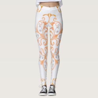 Lulus Legs Tangerine Flourishes Leggings