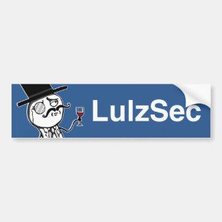 Lulzsec Monocle Man Bumper Sticker (Blue)