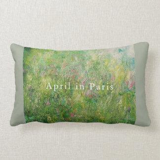 Lumbar Pillow: April in Paris Lumbar Cushion